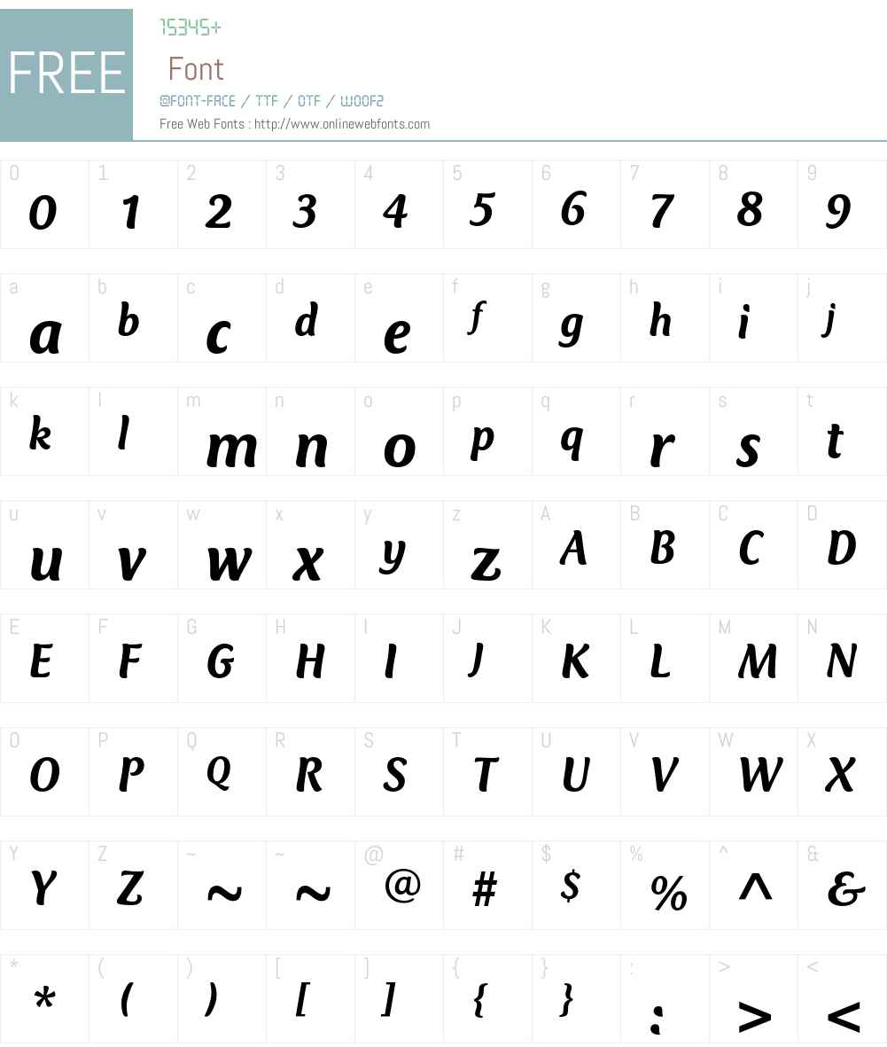 Club Type Mercurius Font Screenshots