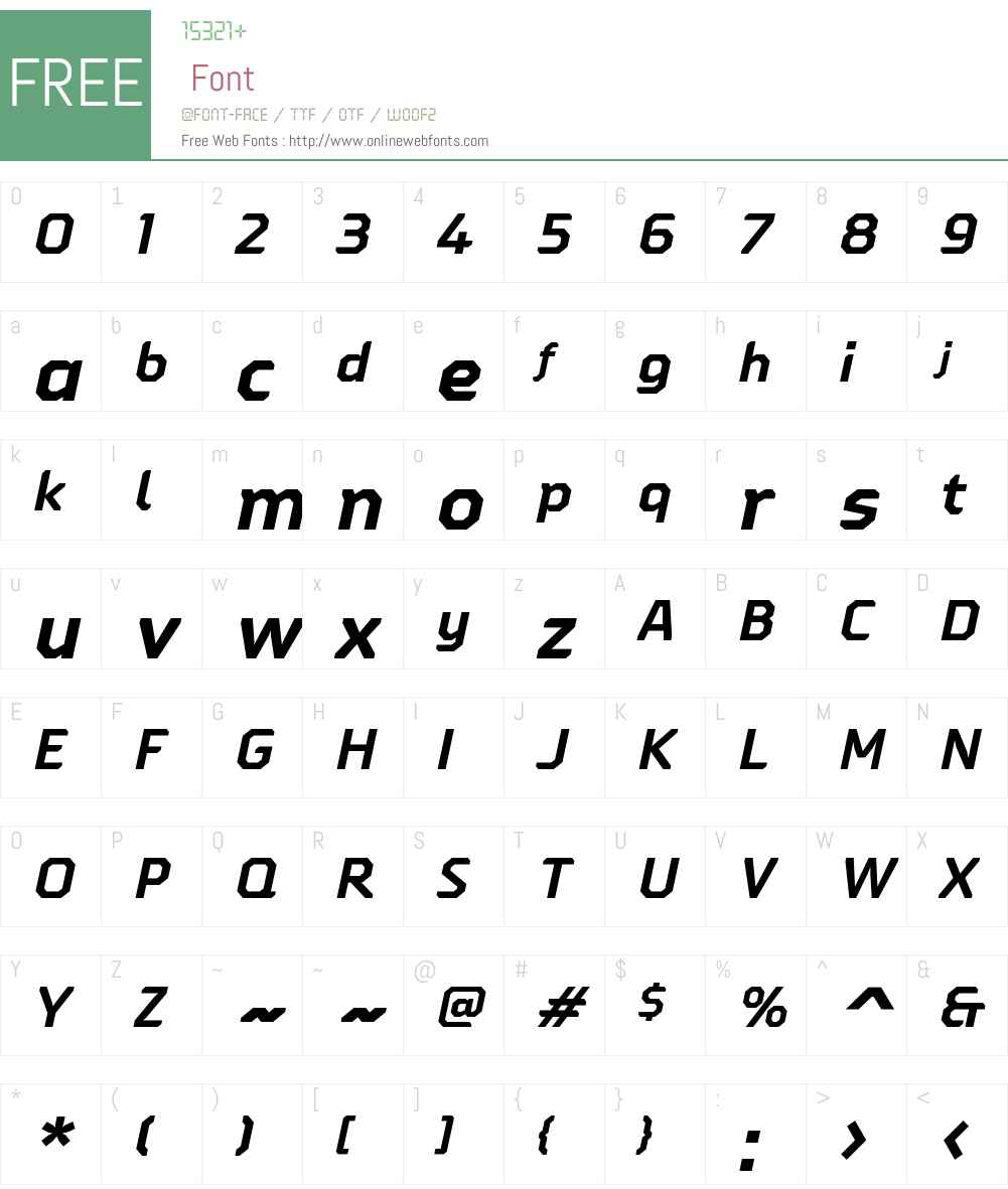 OitaW01-ExtBoldItalic Font Screenshots