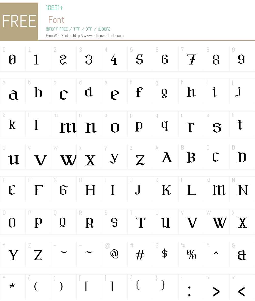 Furia & Venganza Font Screenshots