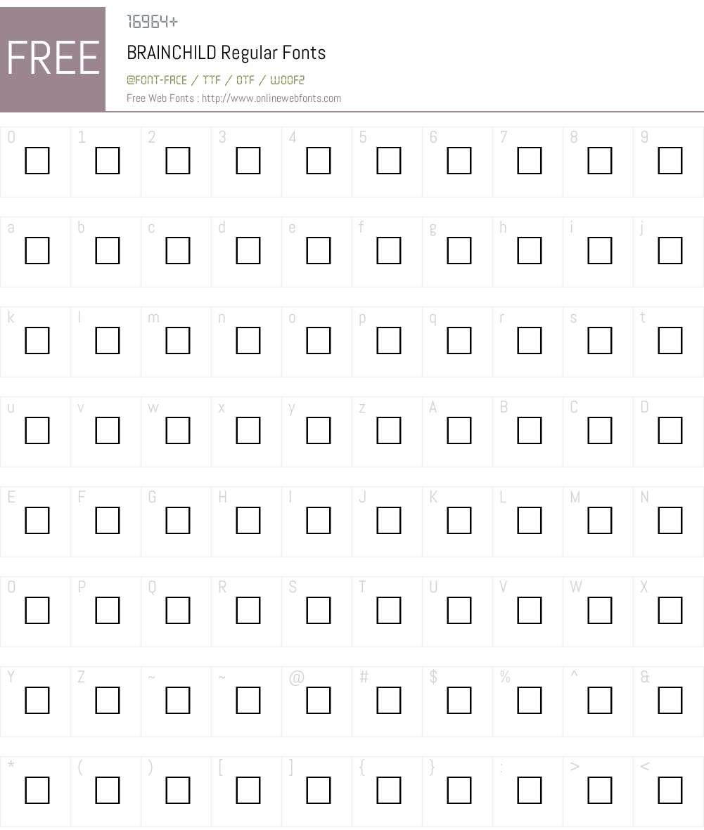 BRAINCHILD Font Screenshots