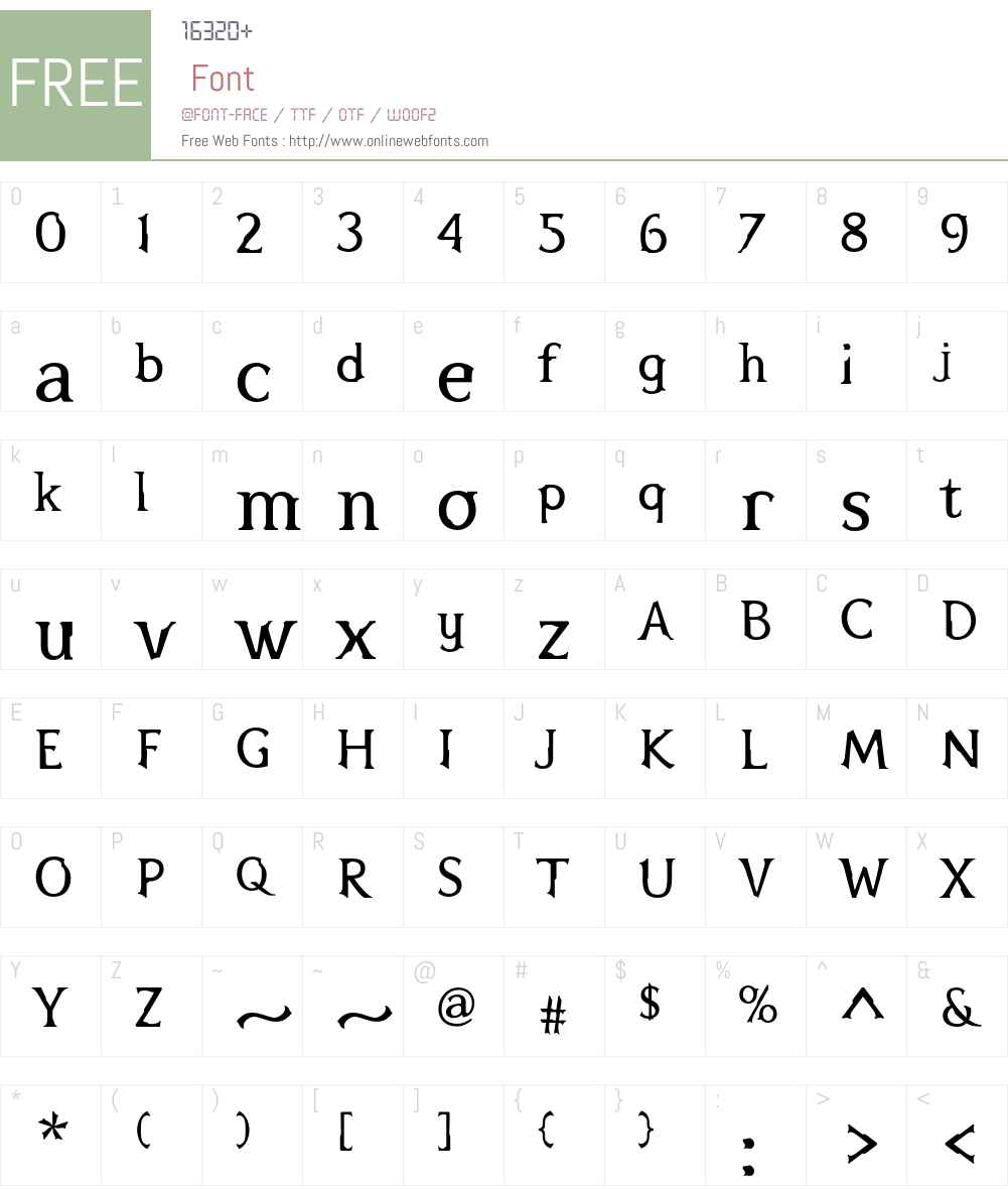 Pterra Font Screenshots