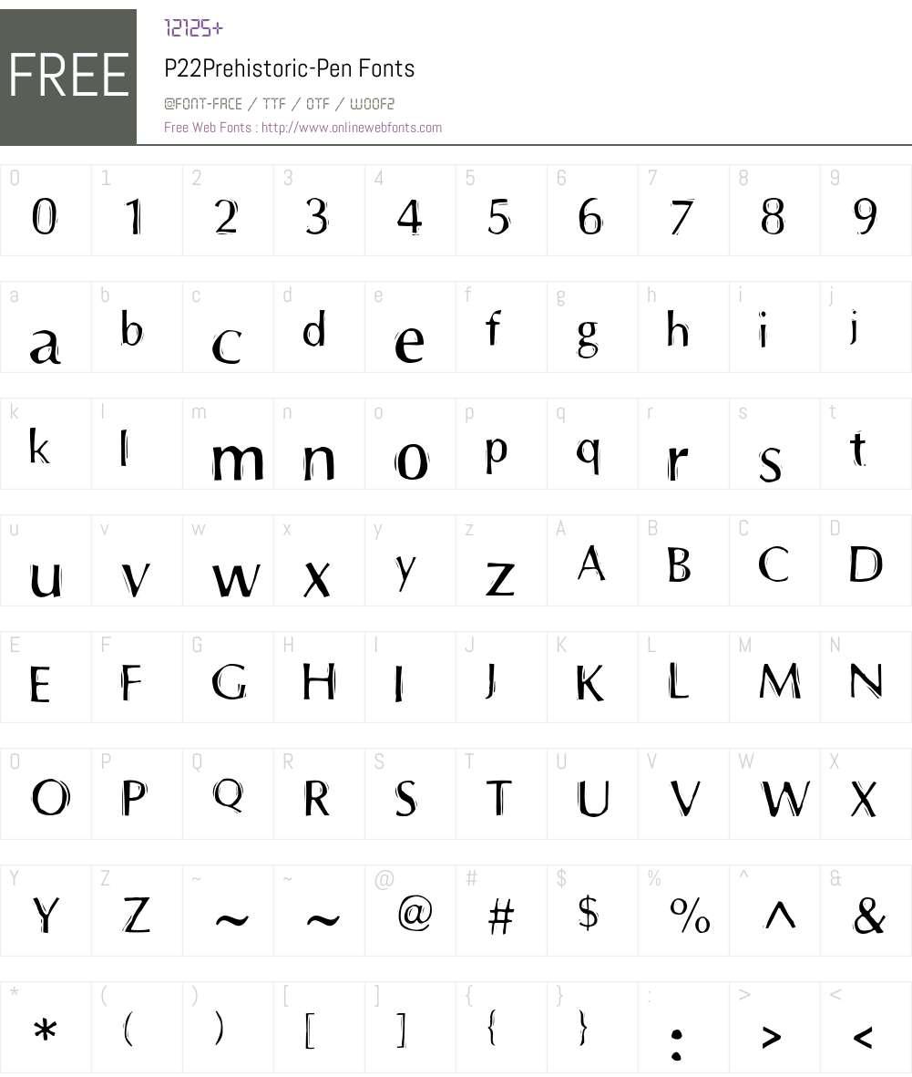 P22Prehistoric Font Screenshots