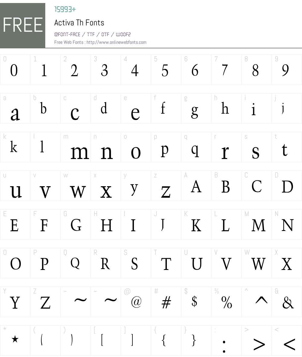 Activa Th Font Screenshots