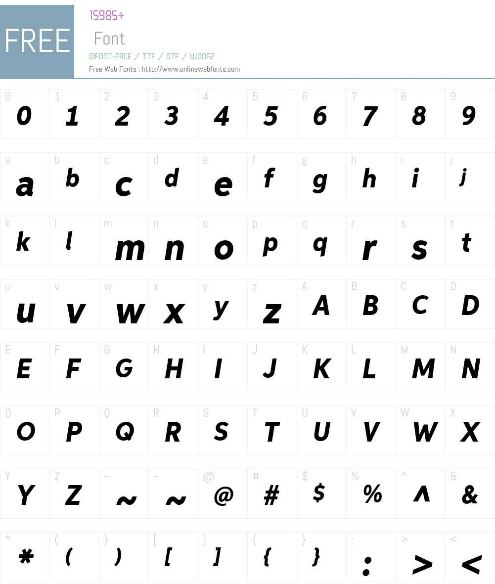 AspiraNarW01-HeavyItalic Font Screenshots