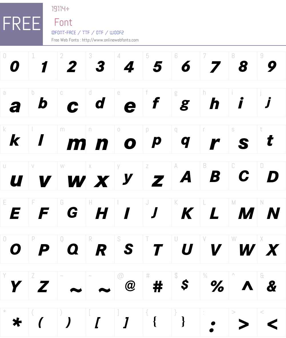 Corporate S BQ Font Screenshots