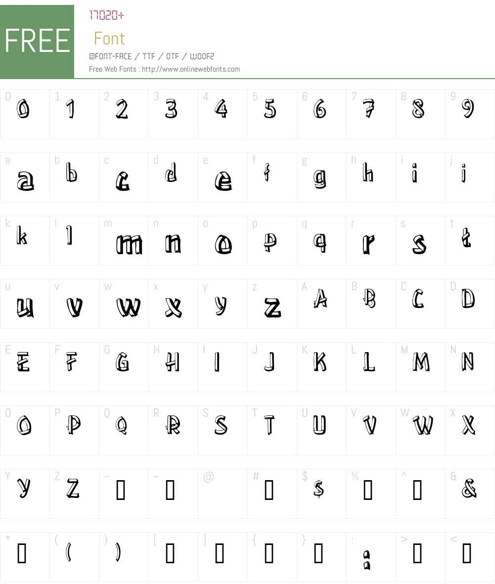 Treehouse Font Screenshots