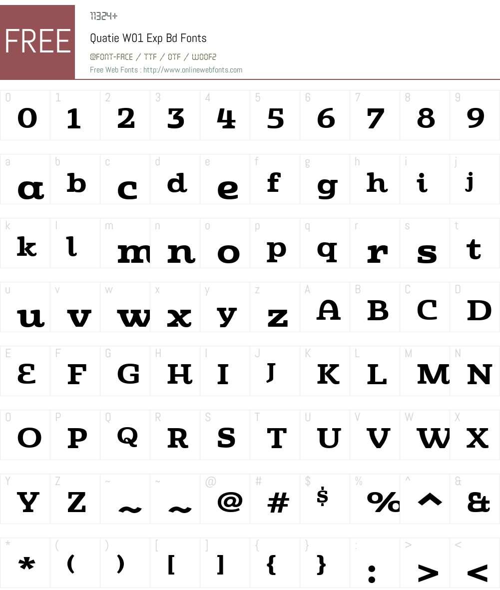QuatieW01-ExpBd Font Screenshots