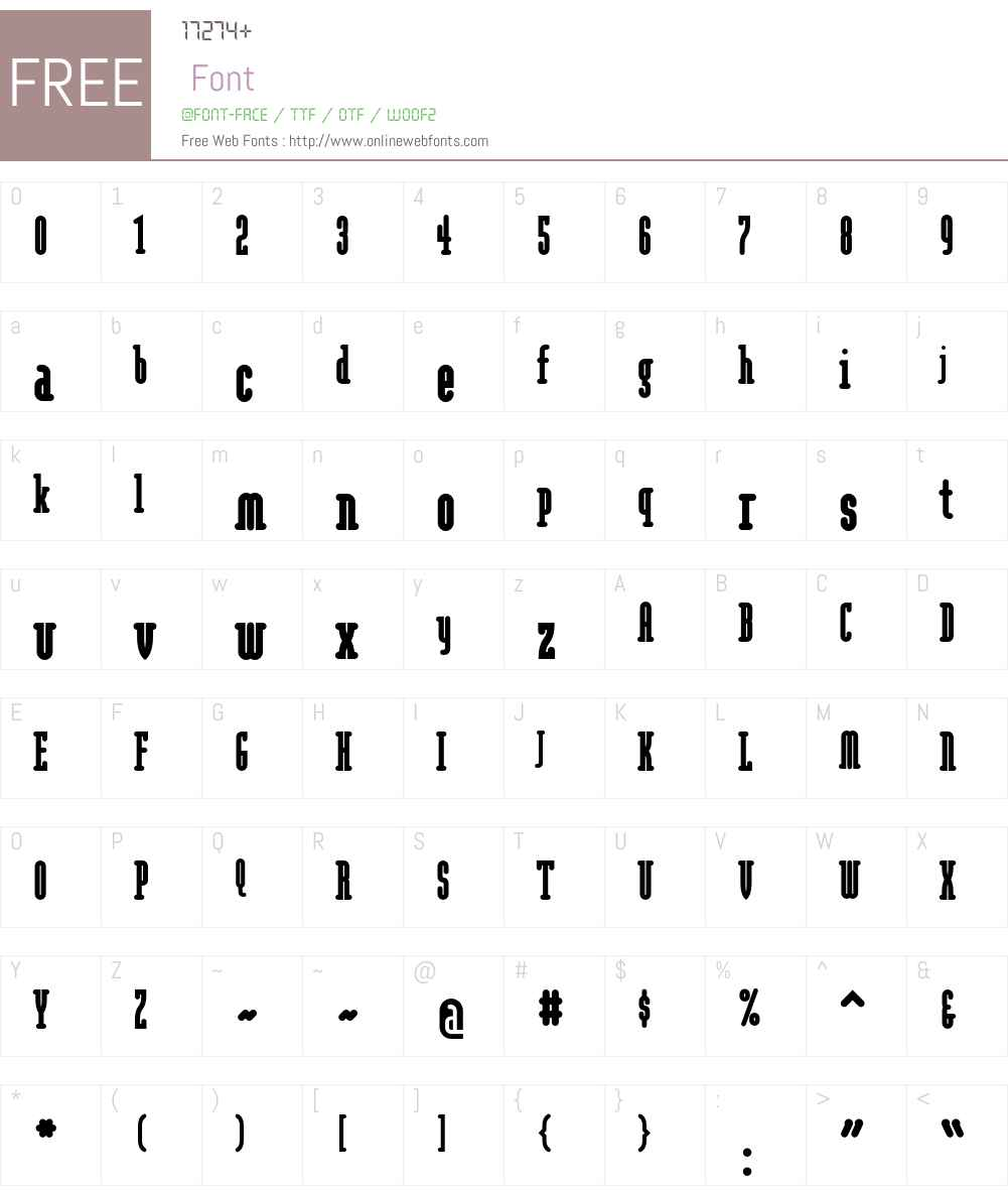 Modula Font Screenshots
