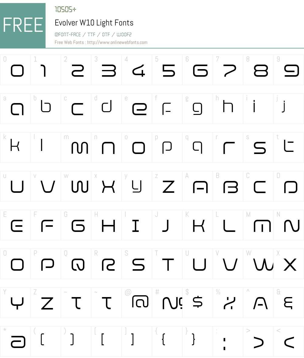 Evolver Font Screenshots