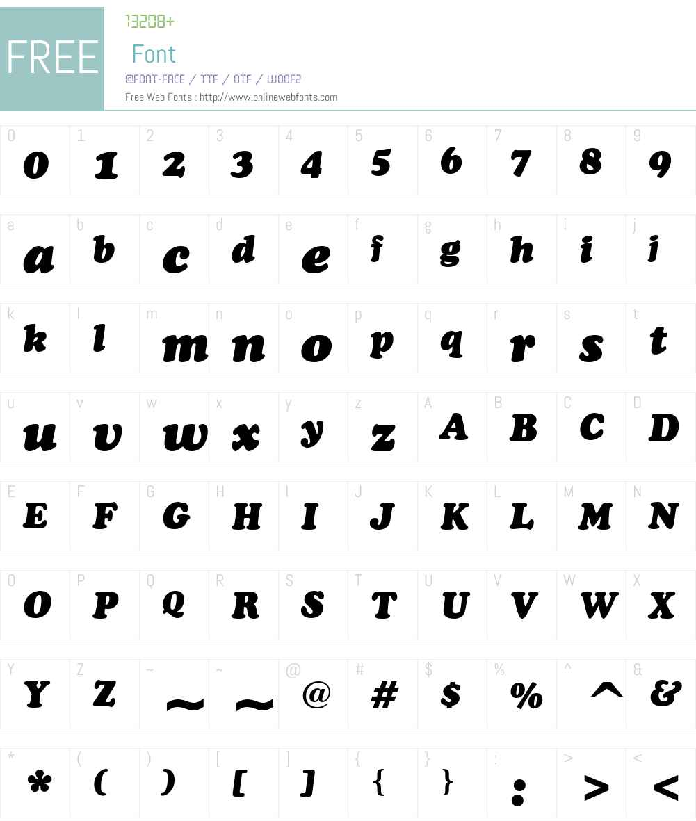 CooperBTW01-BlackItalic Font Screenshots