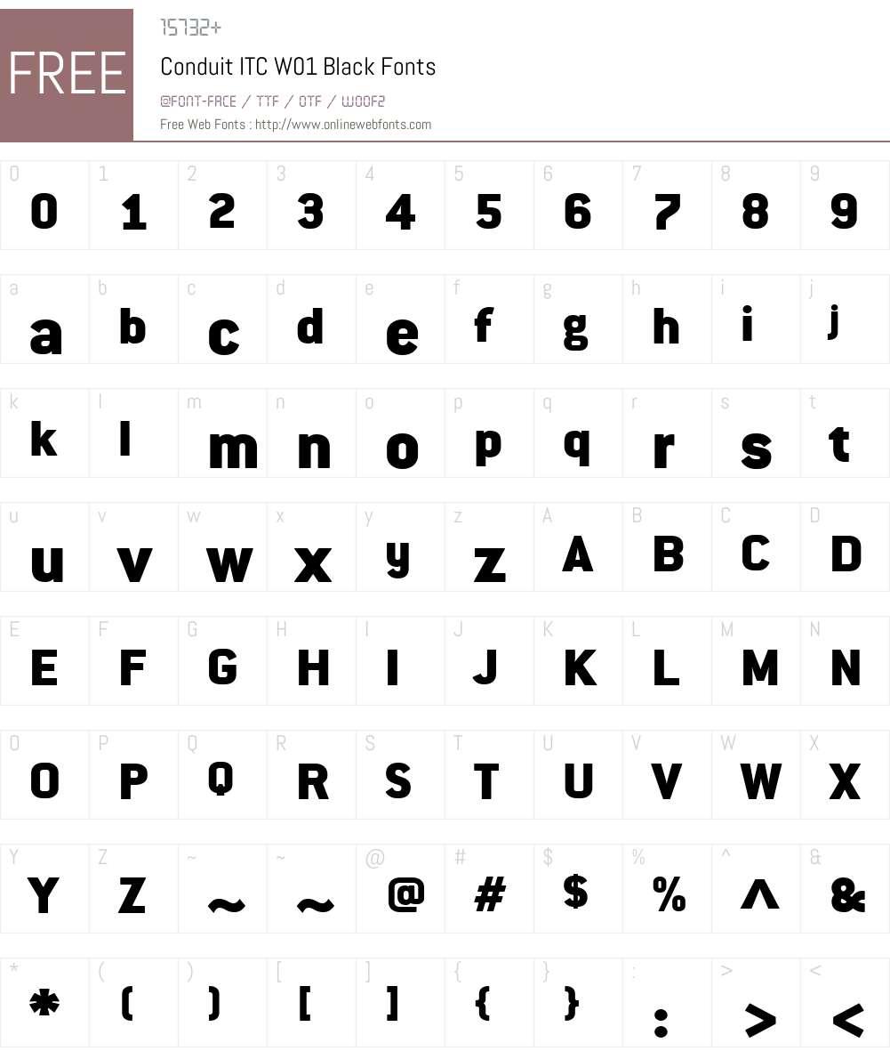 ConduitITCW01-Black Font Screenshots