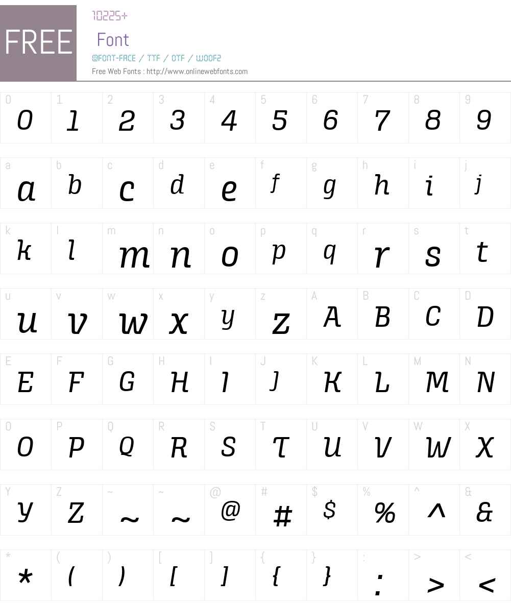AlianzaW03-Italic400 Font Screenshots