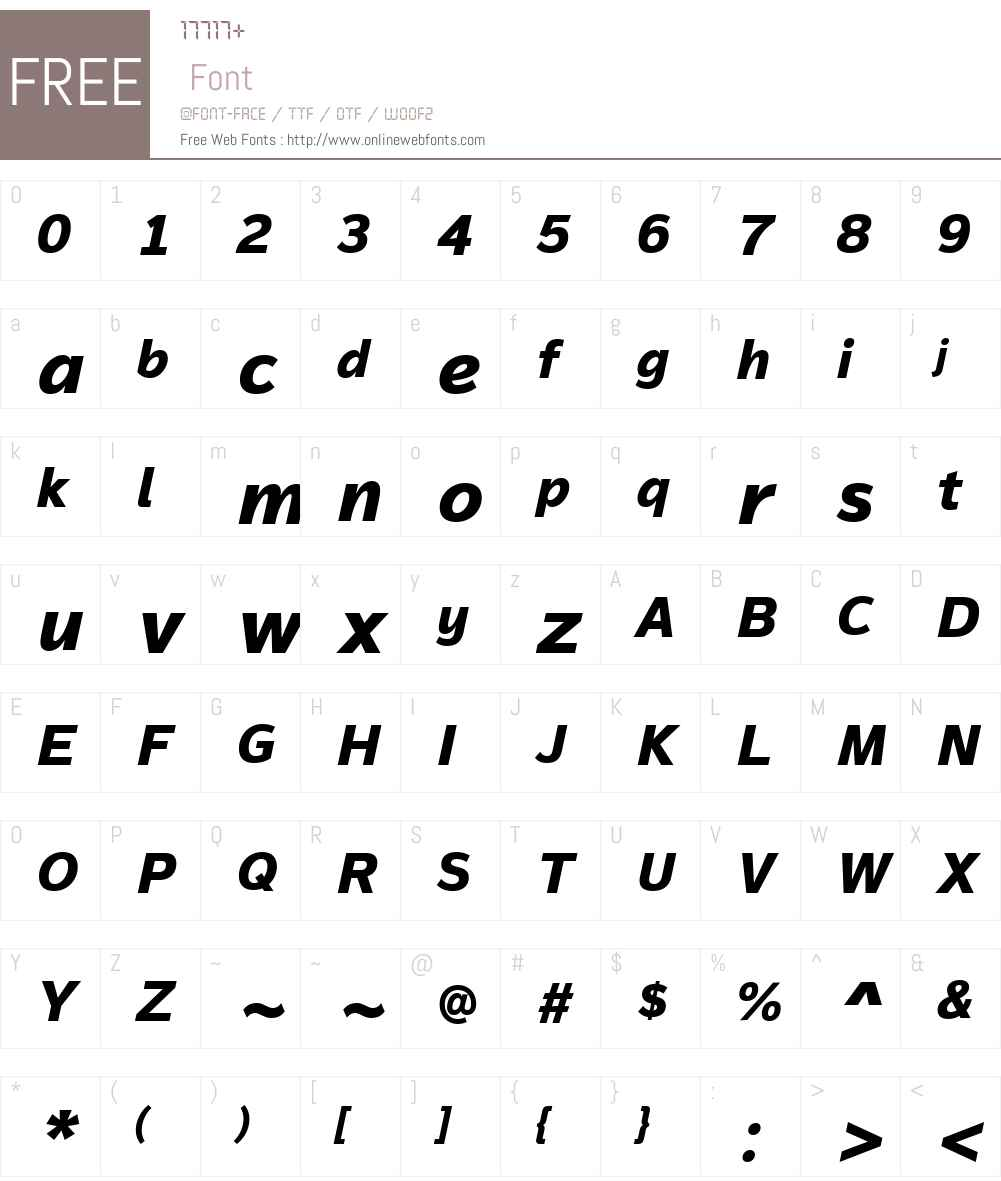 MagnumSansW01-ExtraBoldIt Font Screenshots