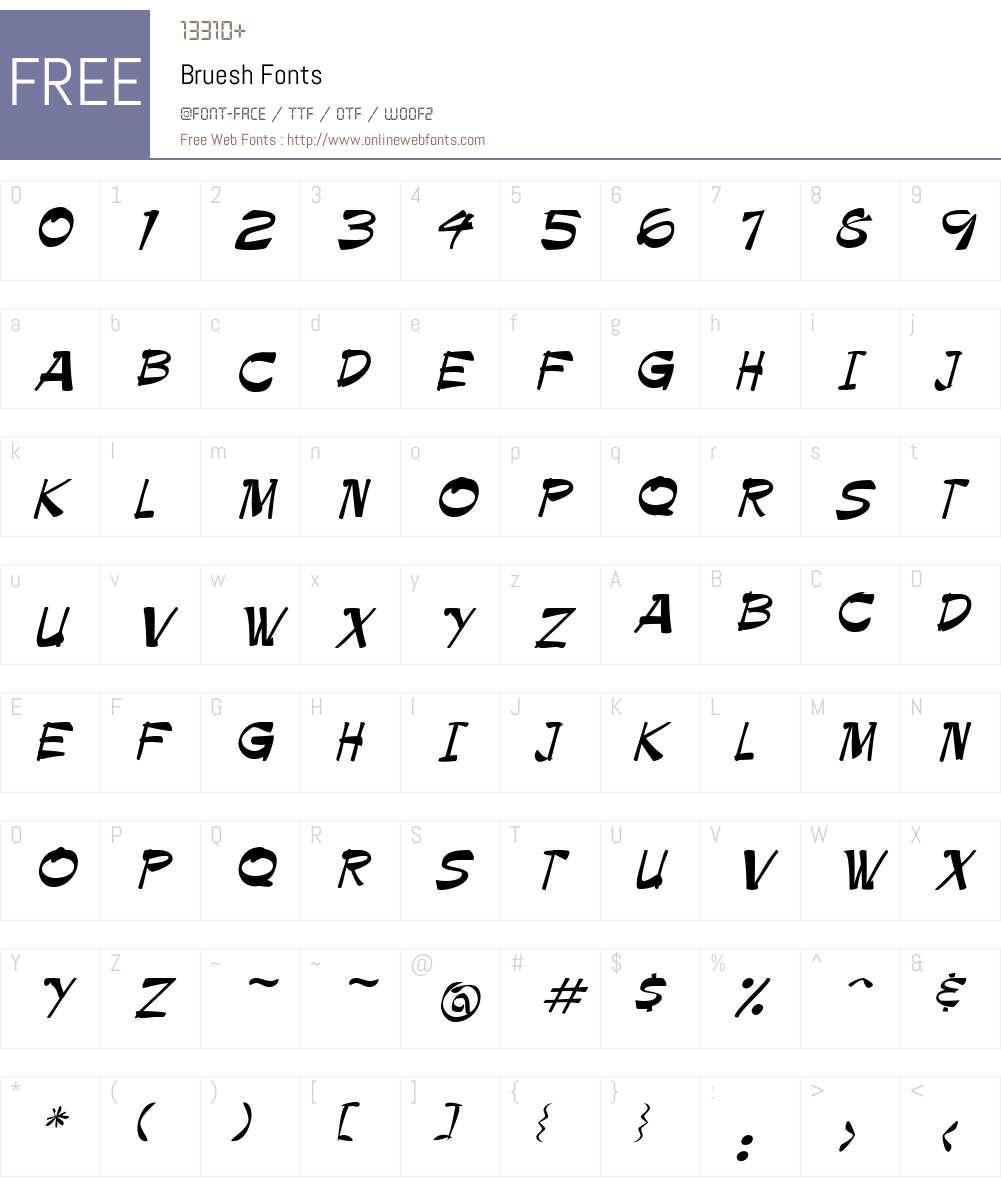 Bruesh Font Screenshots