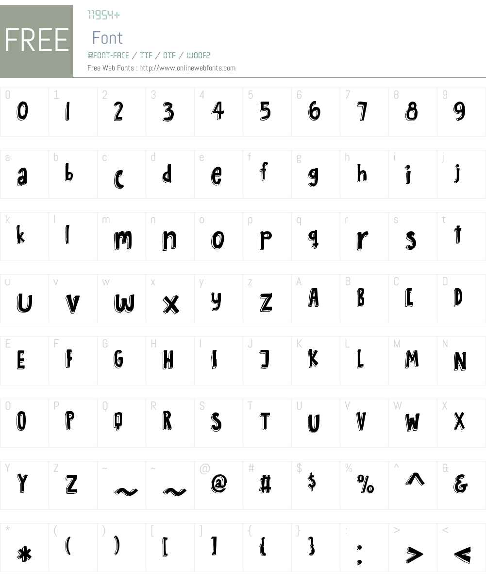 BombayBlueW00-Regular Font Screenshots