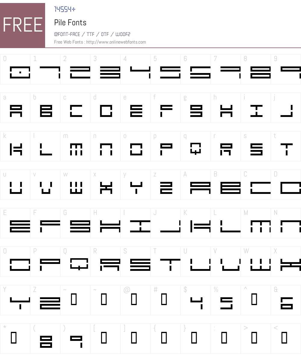 Pile Font Screenshots