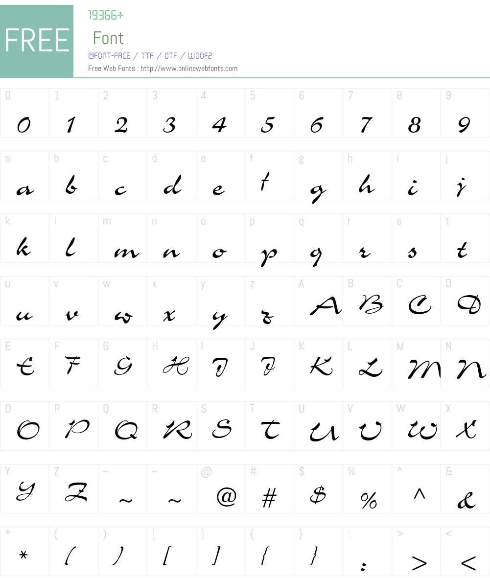 Charme LT Font Screenshots
