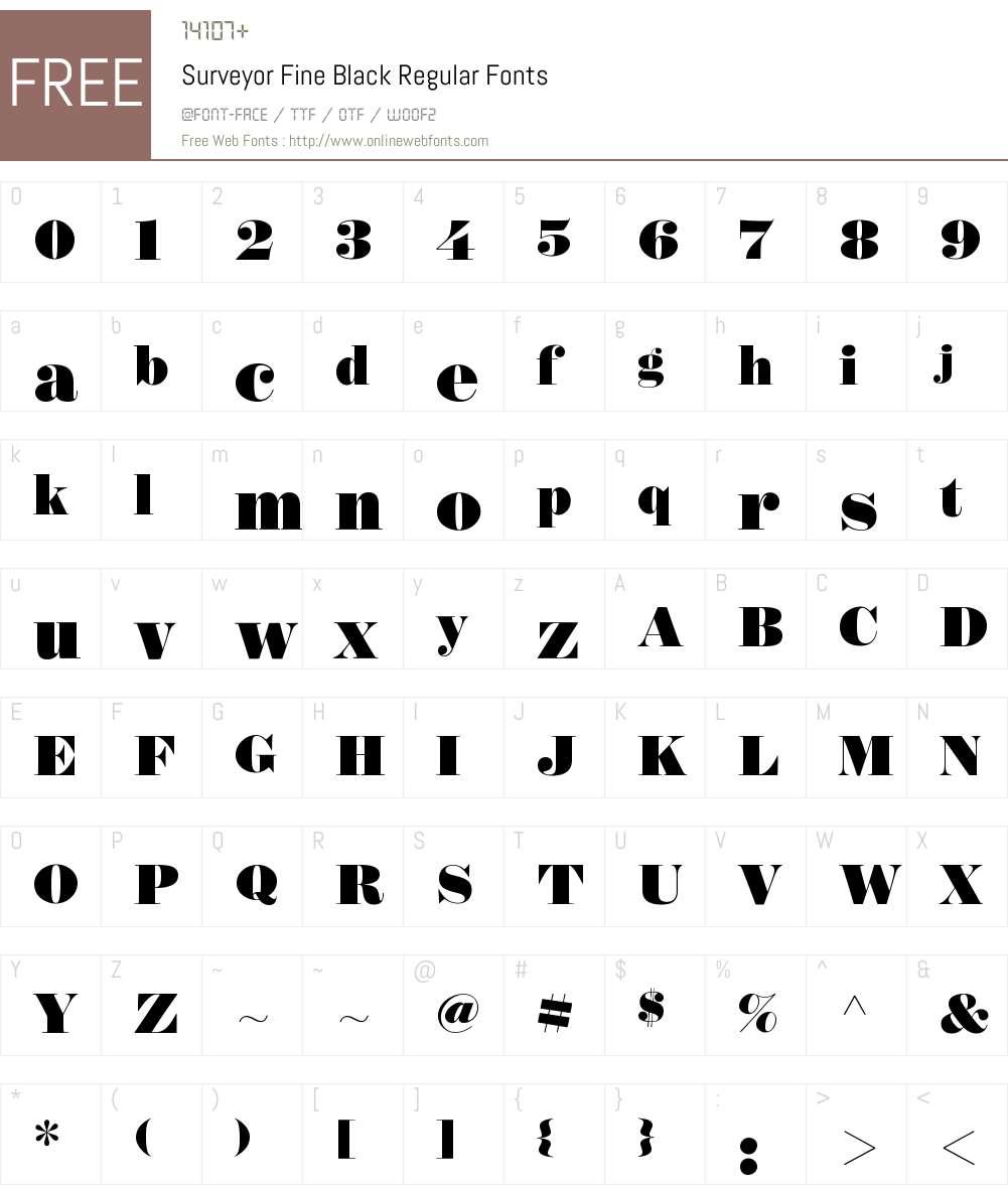 Surveyor Fine Black Font Screenshots