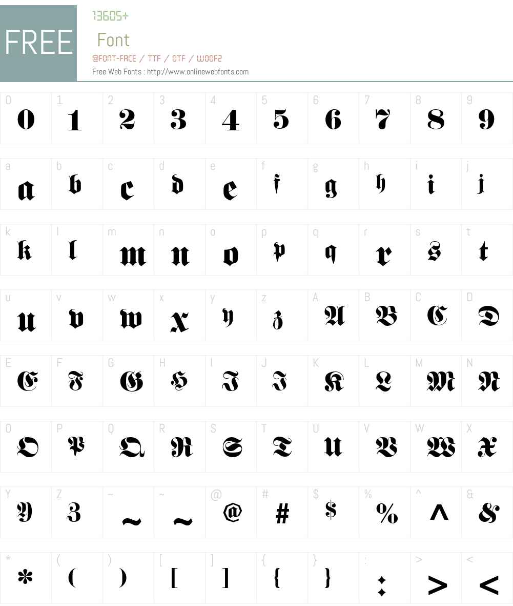 Barron Font Screenshots