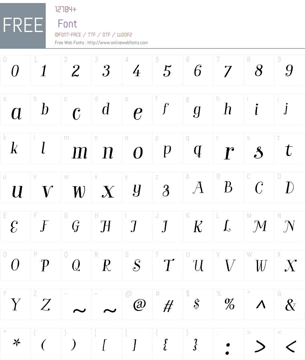 GardenW01-ProItalic Font Screenshots