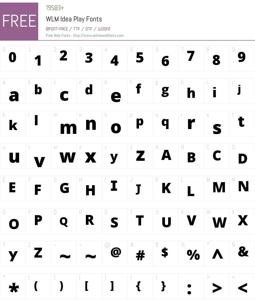 WLM Idea Play Font Screenshots