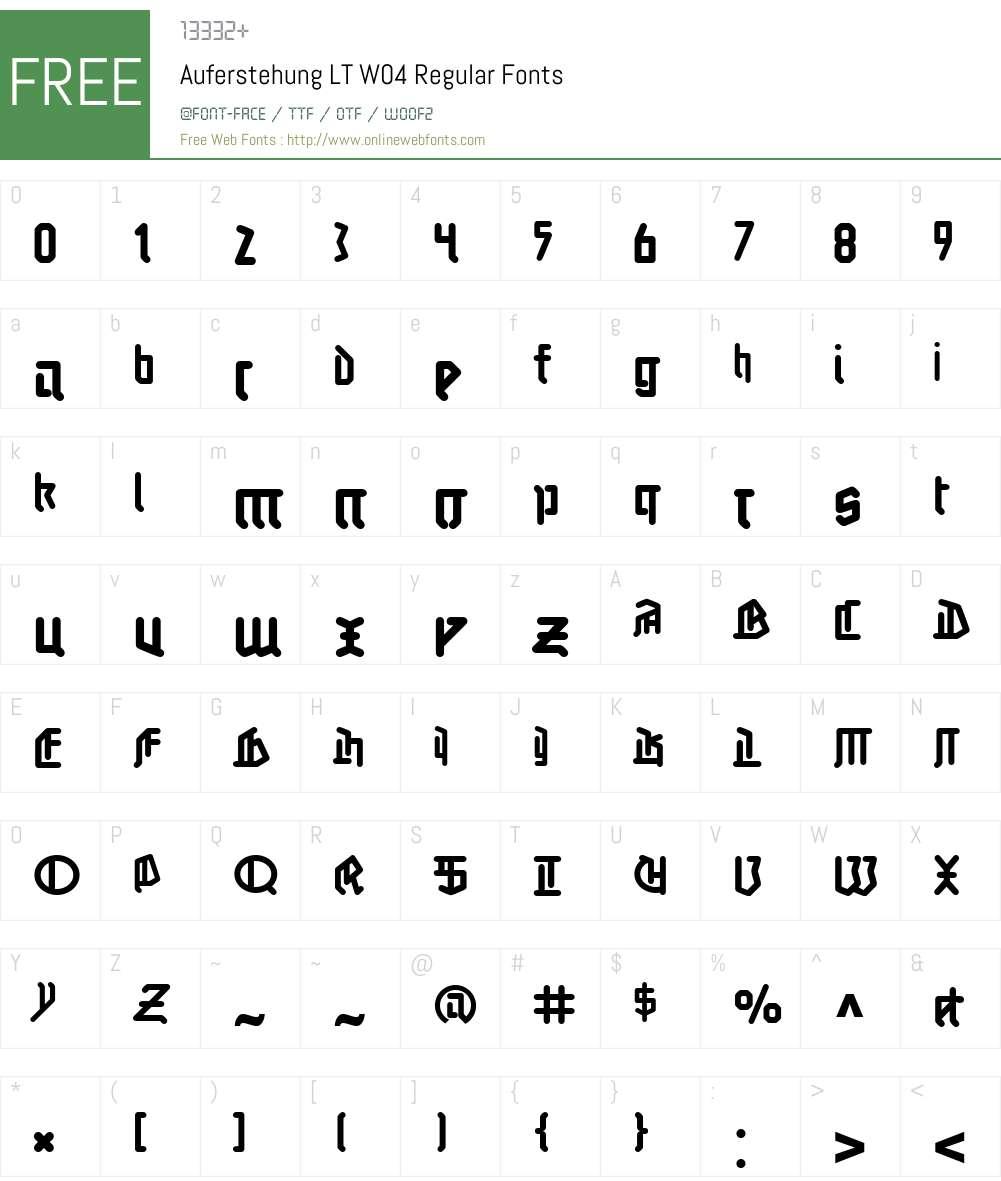 Linotype Auferstehung Font Screenshots