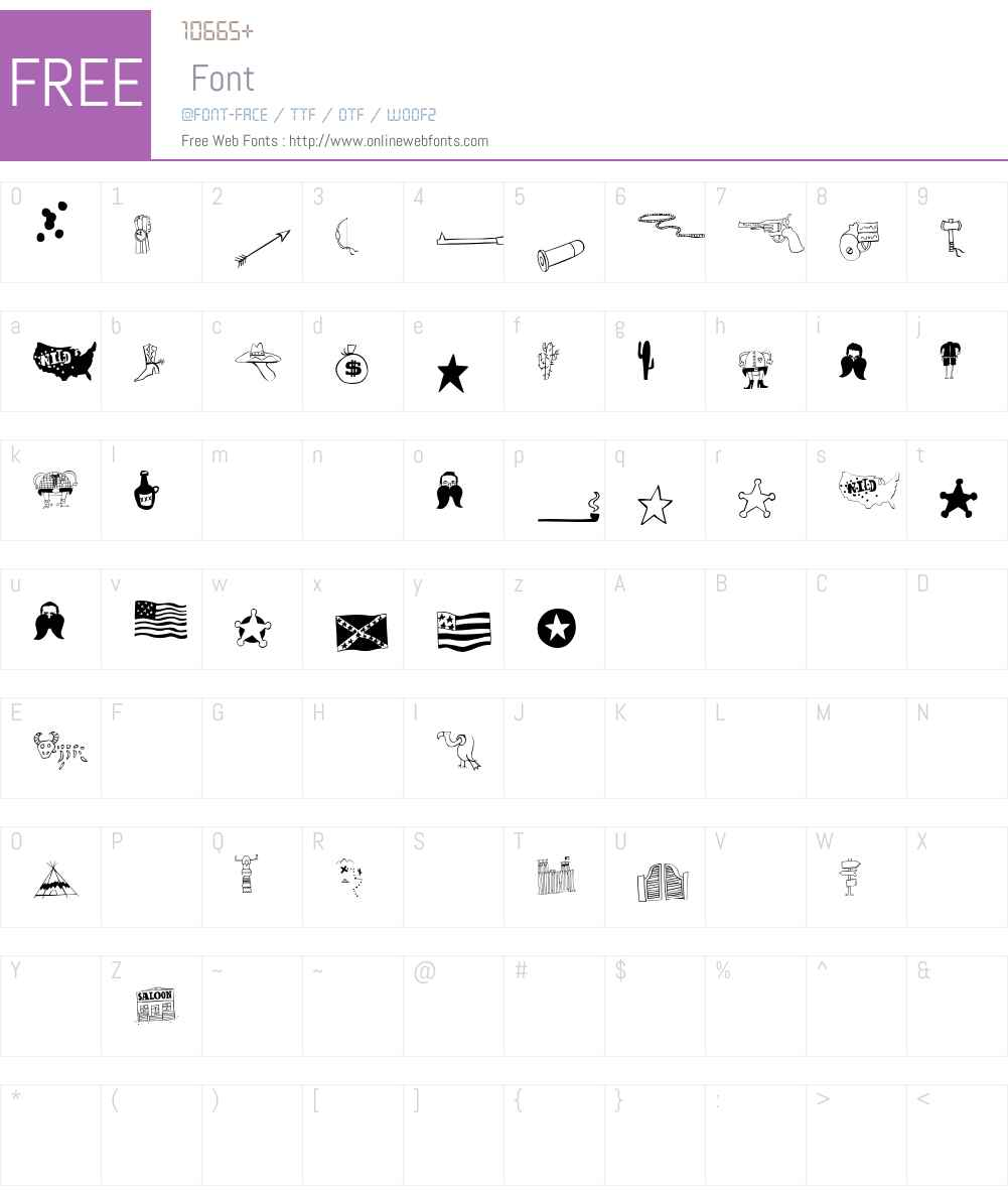 OklahomaPictures Font Screenshots
