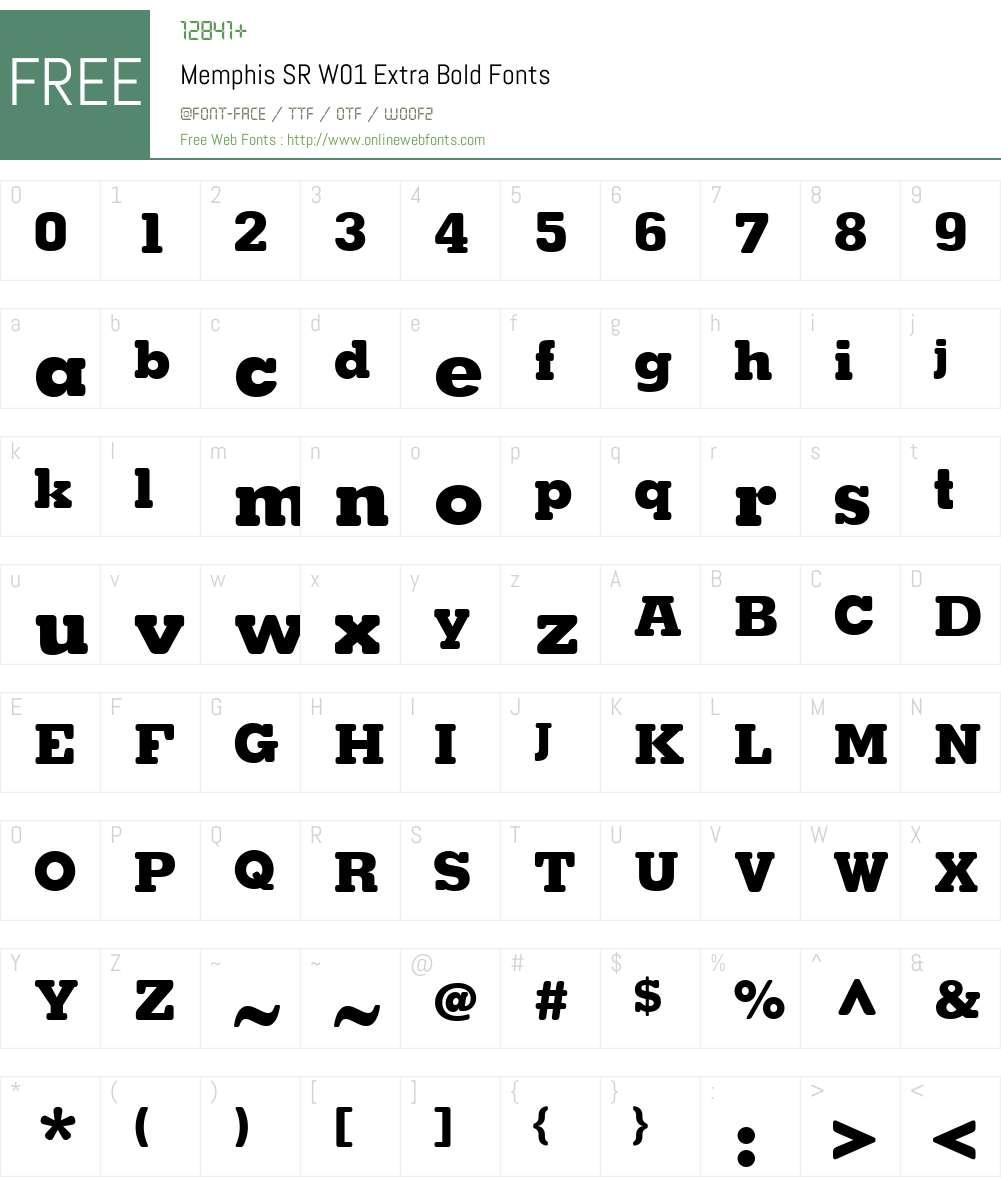 MemphisSRW01-ExtraBold Font Screenshots