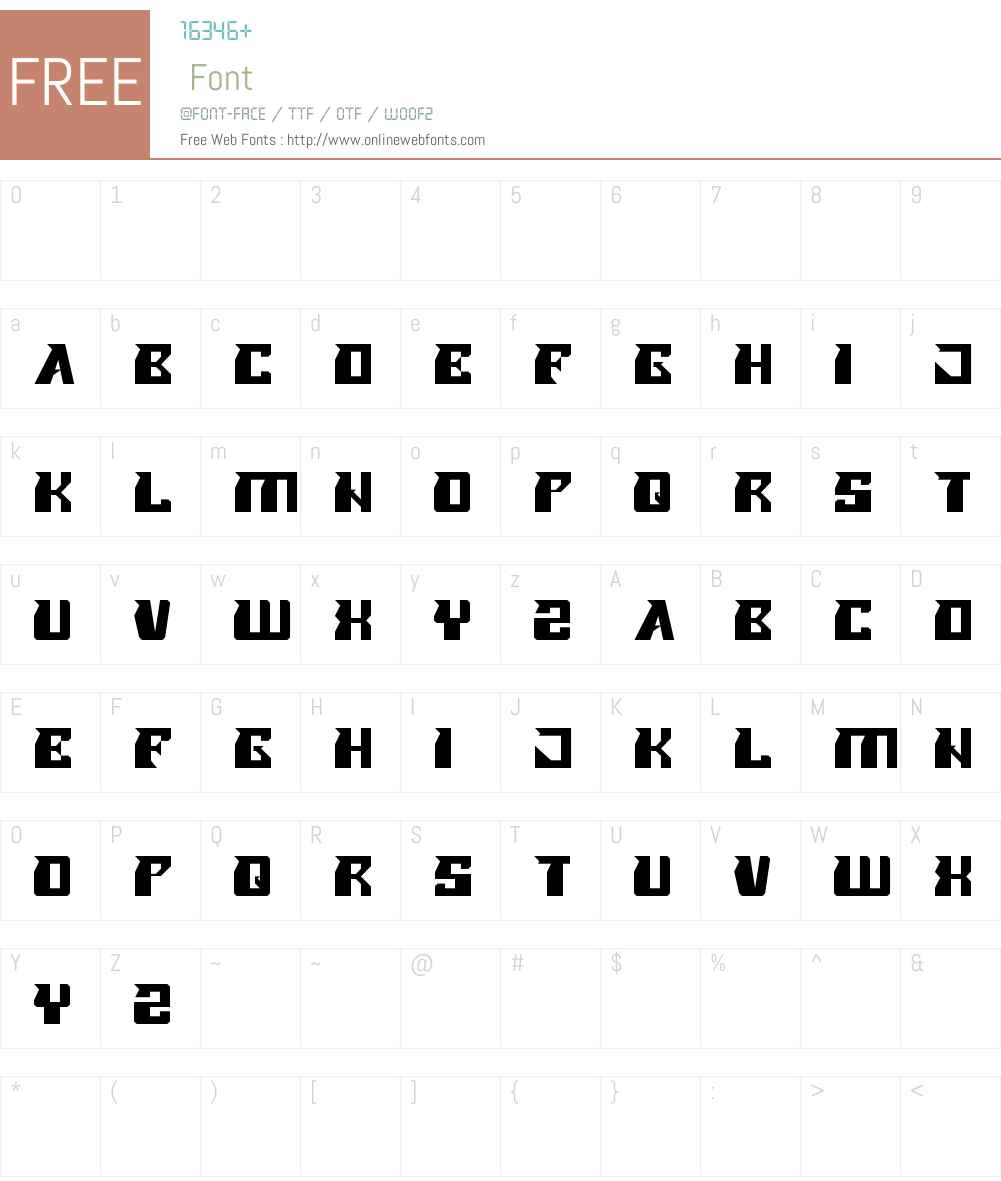 ROLLER BLADE Font Screenshots