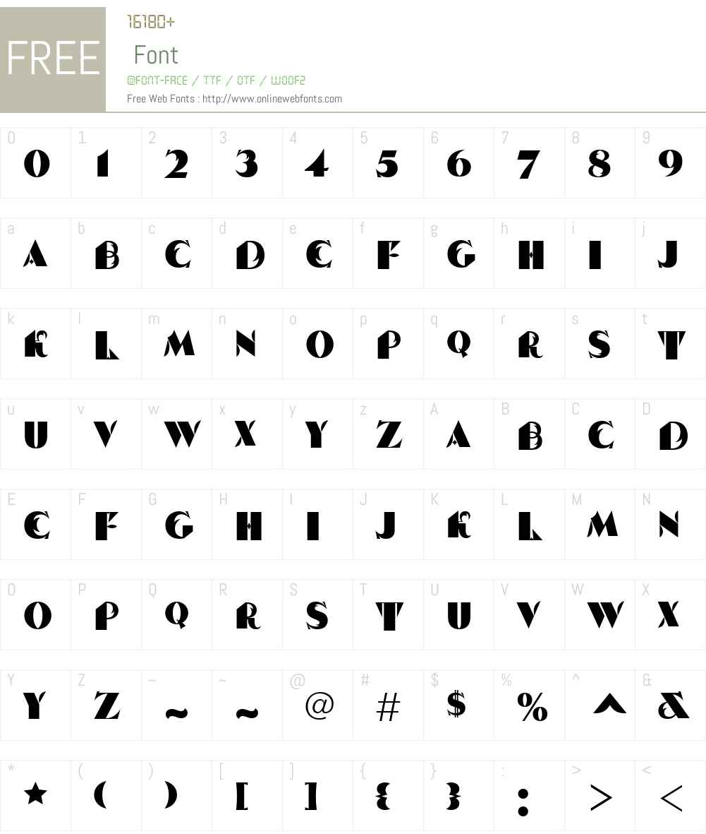 Serp and Molot Font Screenshots
