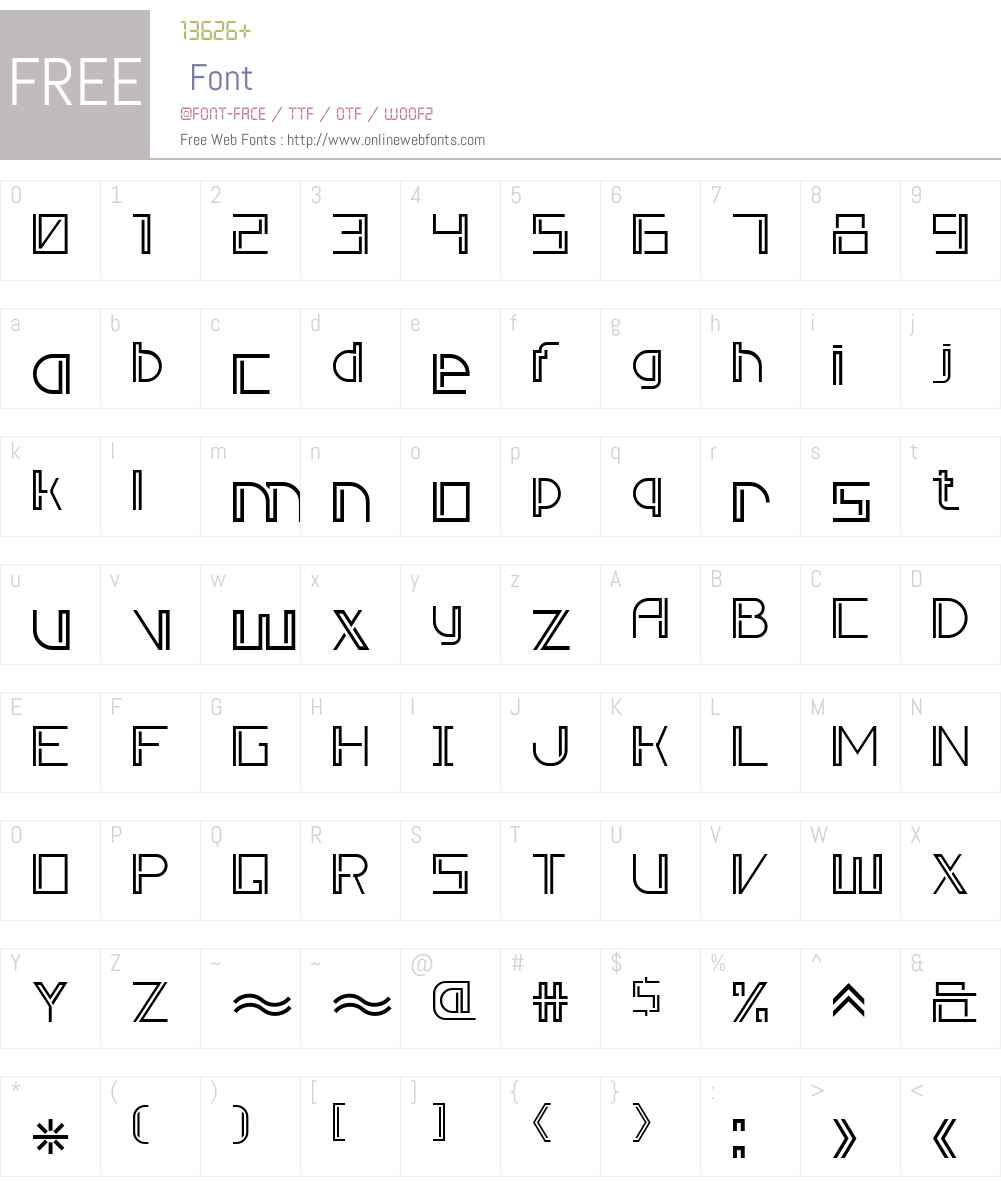 Double Line 7 Font Screenshots
