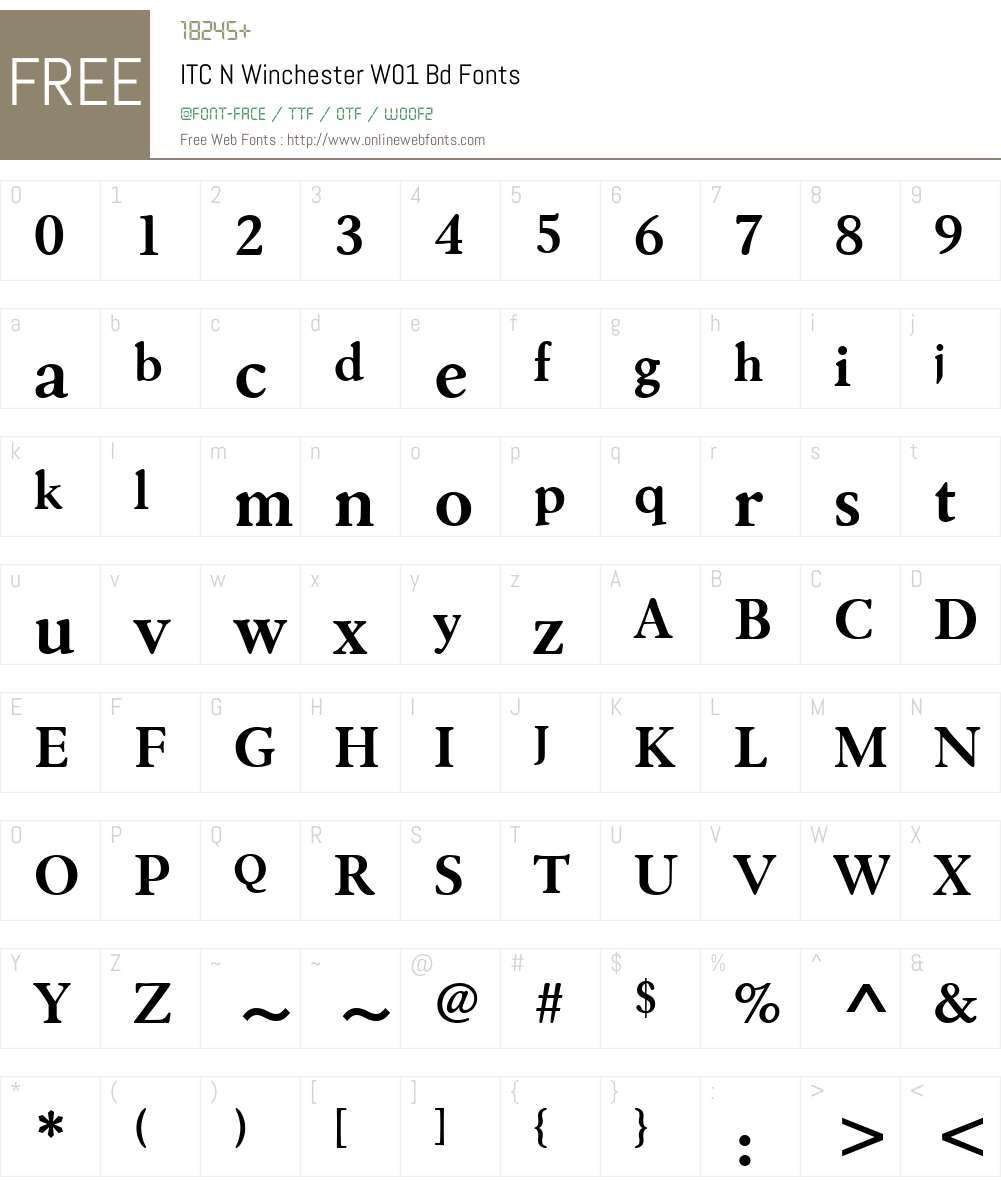 ITCNWinchesterW01-Bd Font Screenshots