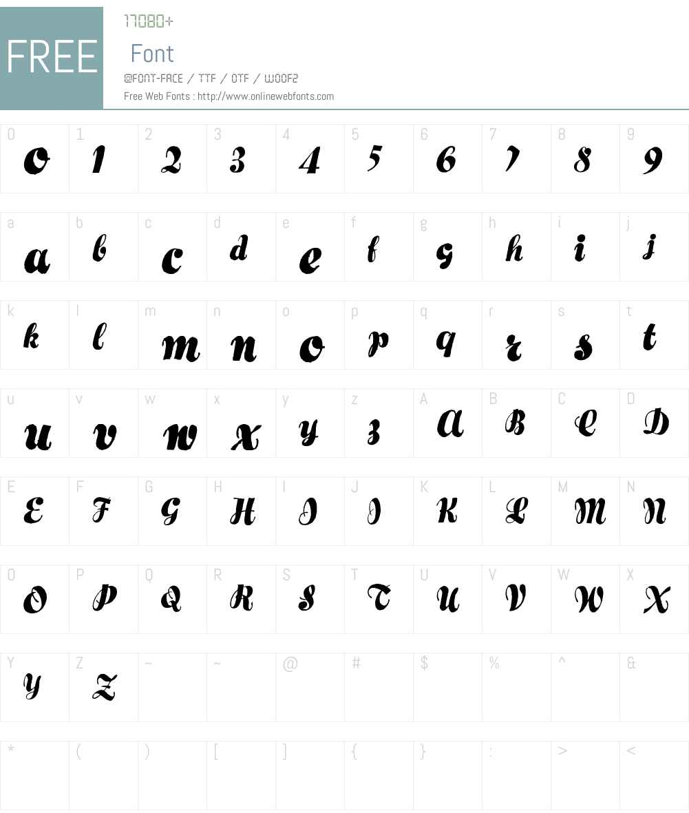 Hertziano Font Screenshots