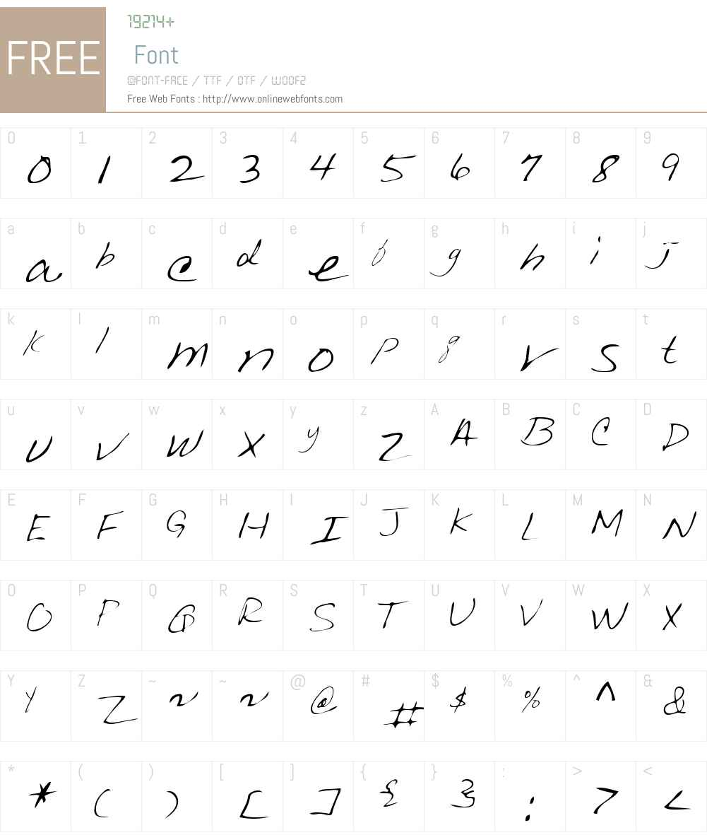 Kedzie Font Screenshots