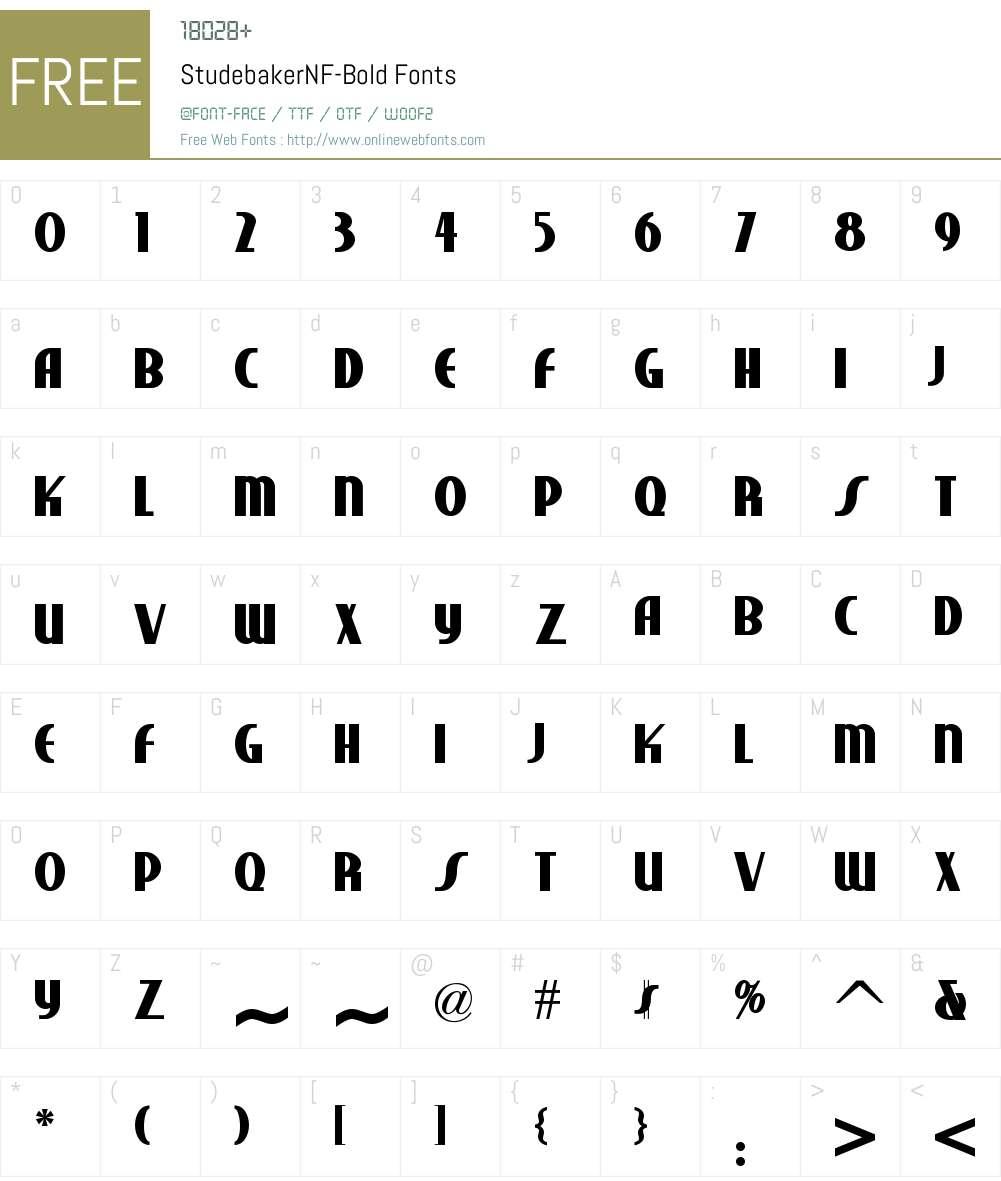 Studebaker NF Font Screenshots