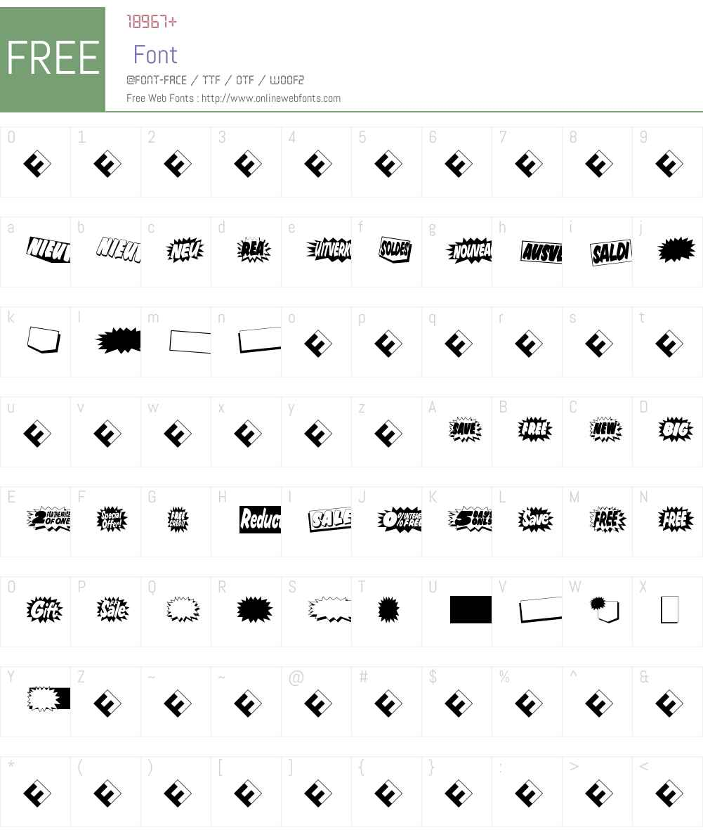 FF Sale Font Screenshots