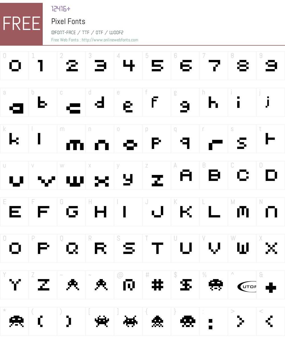 Pixel Font Screenshots