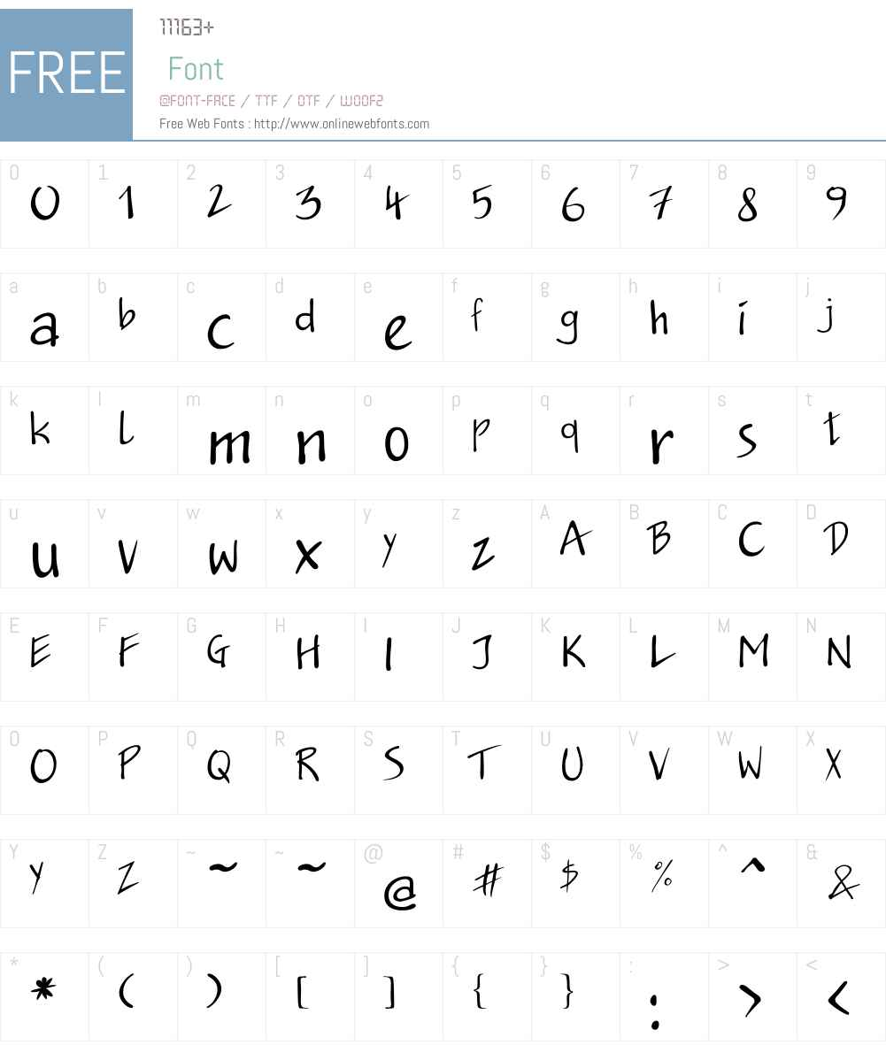 JakobC Font Screenshots