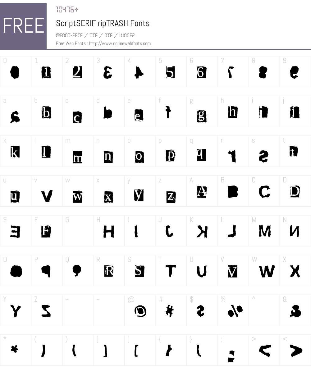 ScriptSERIF Font Screenshots