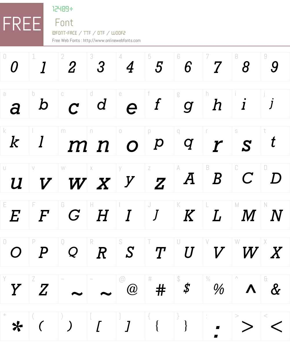 Rockwell BQ Font Screenshots
