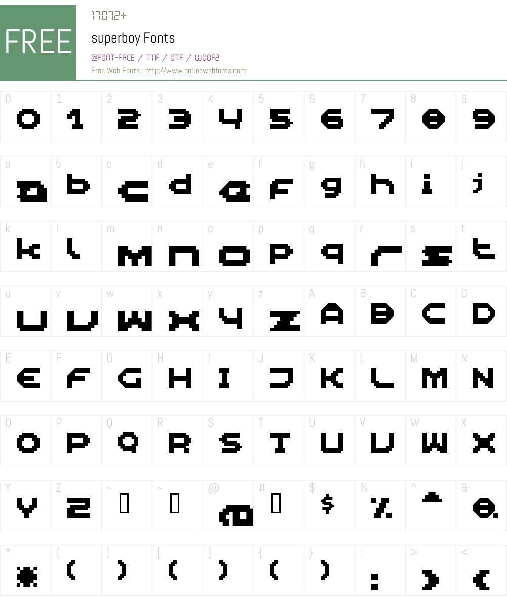 superboy Font Screenshots