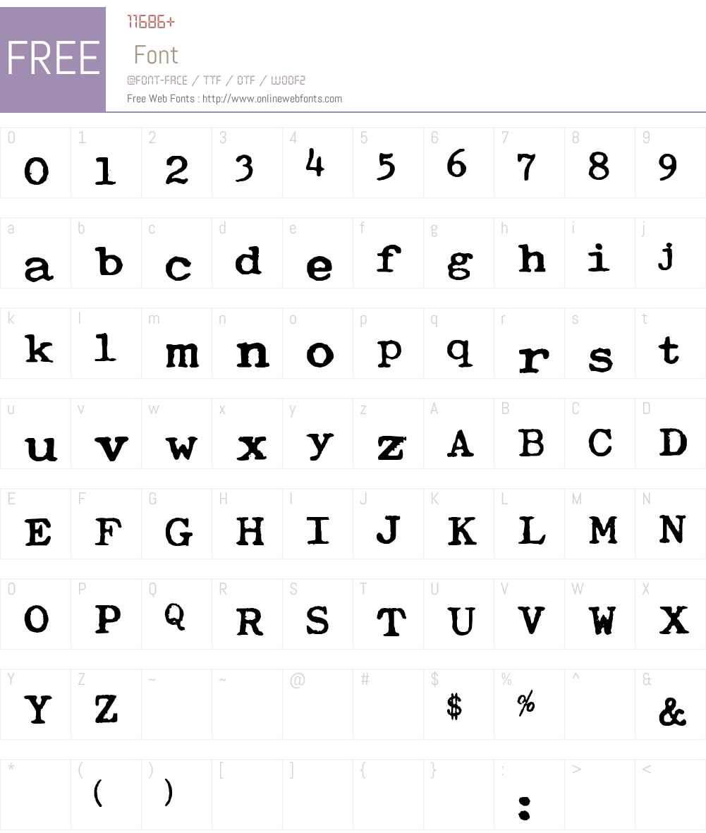 Typewriter Royal 200 Font Screenshots