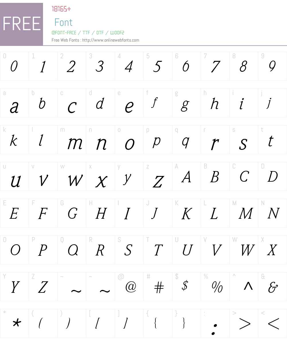 Weidemann BQ Font Screenshots
