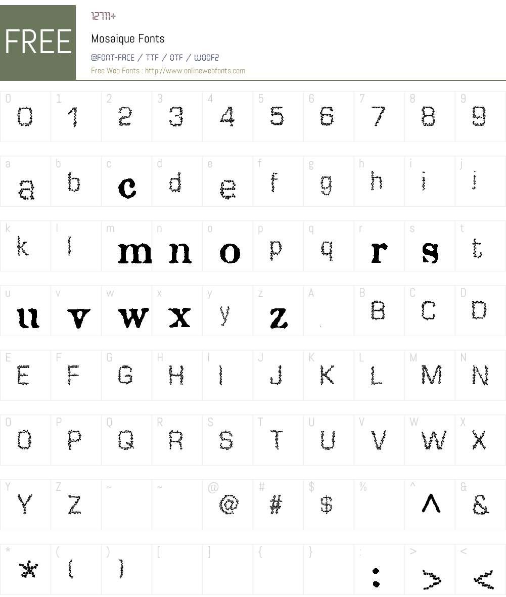 Mosaique Font Screenshots