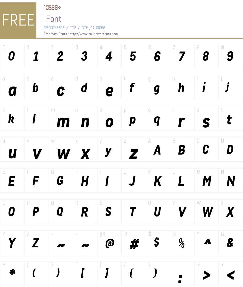CACulaW00-ExtraBoldIt Font Screenshots