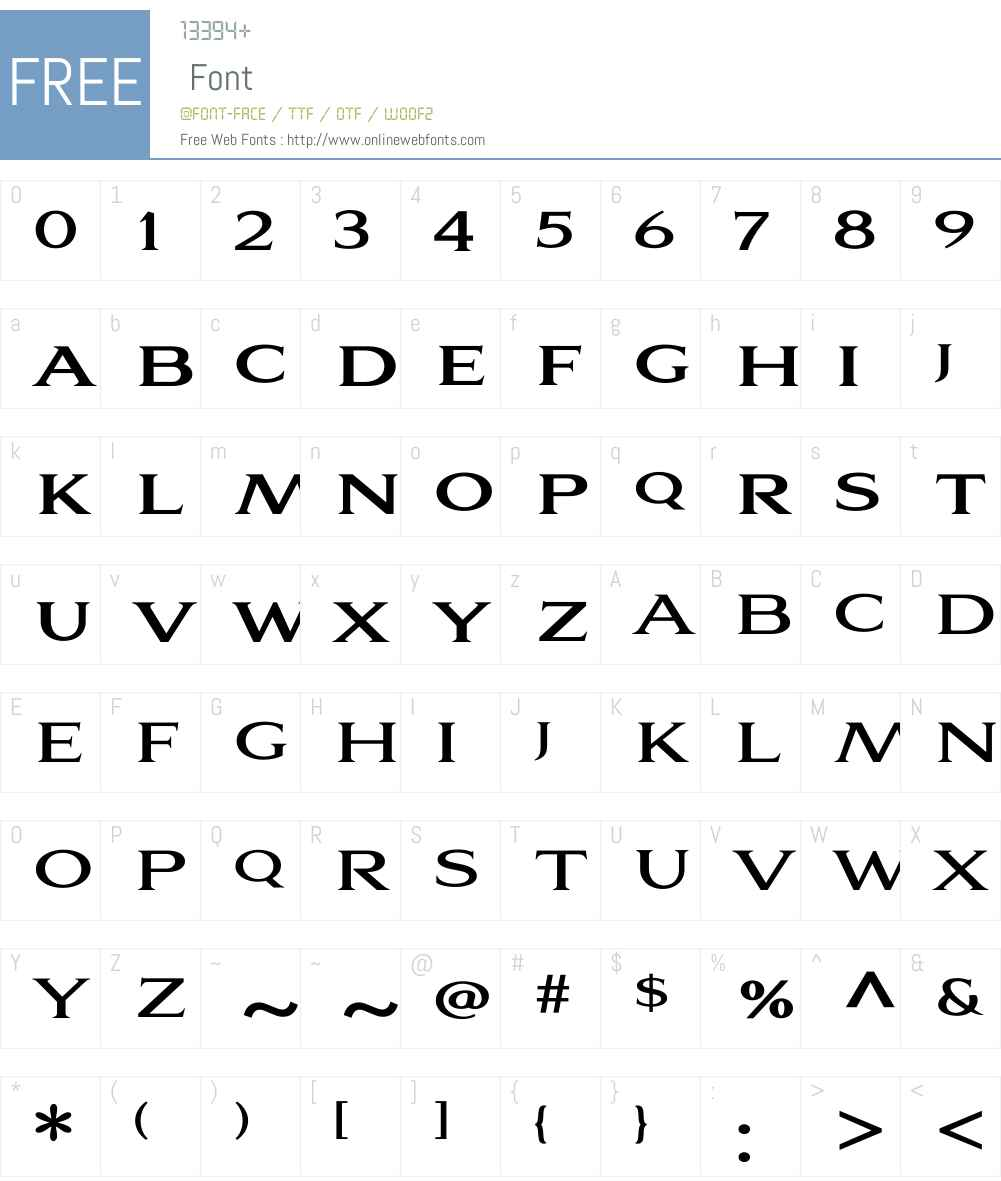 Aviano Serif Bold Font Screenshots