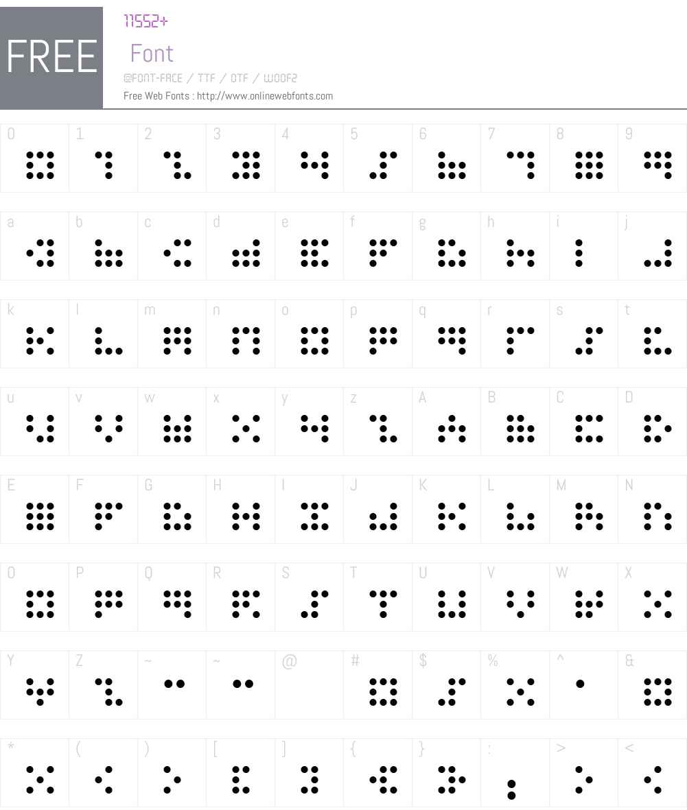 3x3 dots Font Screenshots