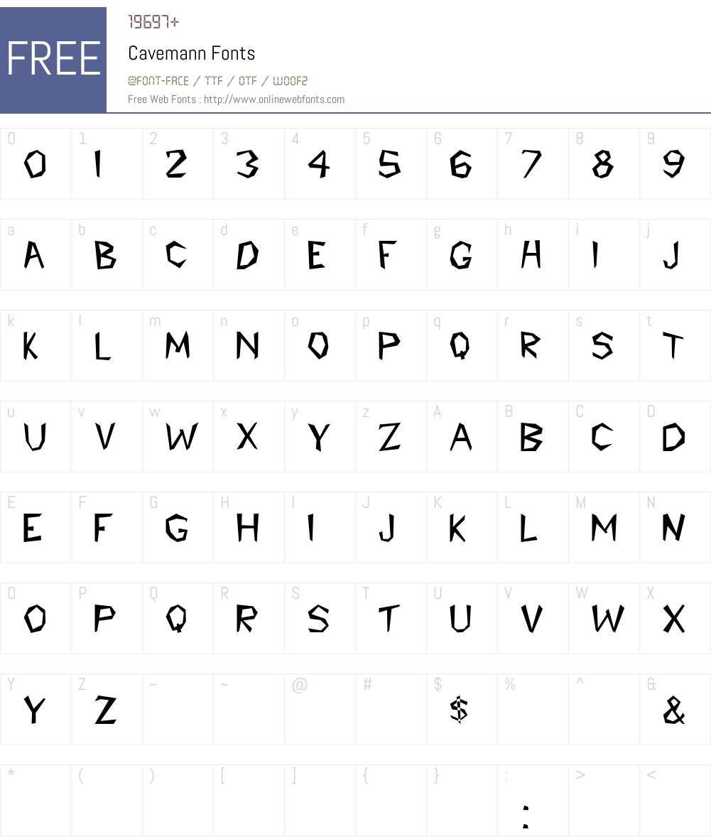 Cavemann Font Screenshots