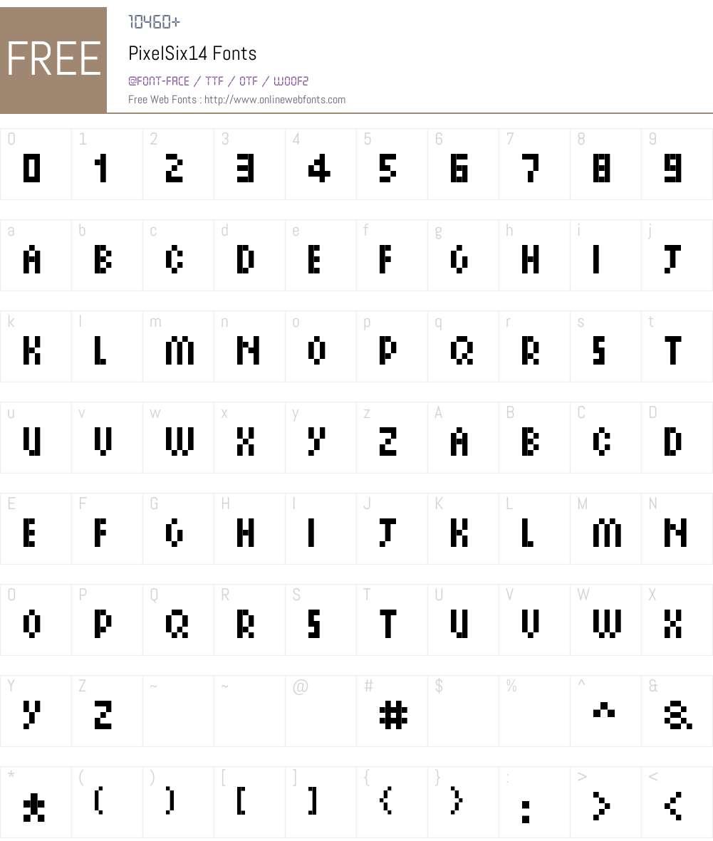PixelSix14 Font Screenshots