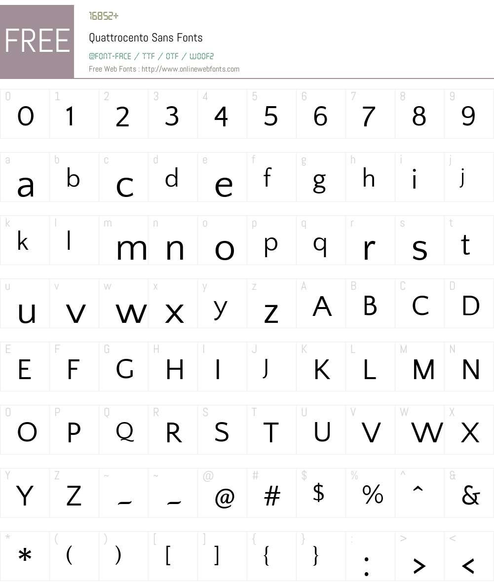 Quattrocento Sans Font Screenshots